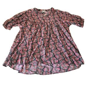Umgee High Low Pattern Blouse